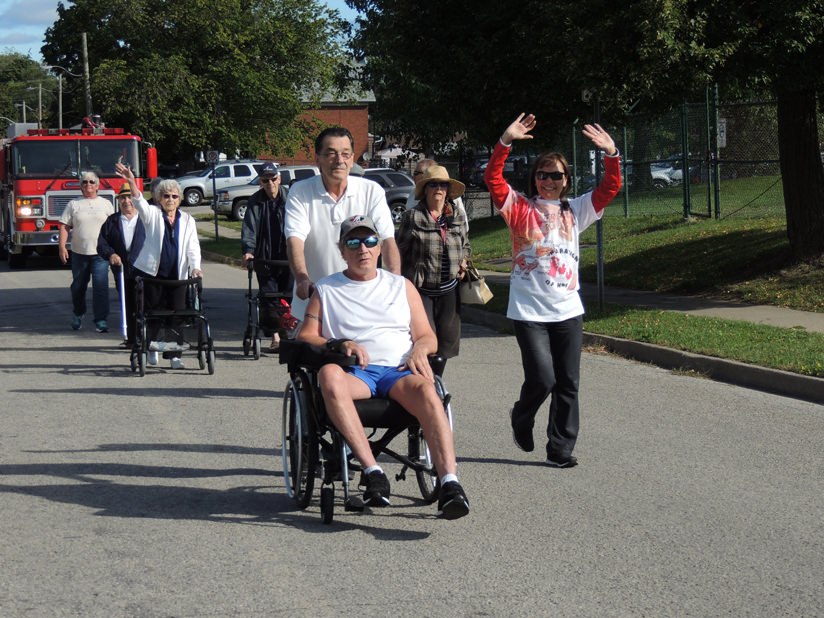 Cobblestone Gardens took part in the Terry Fox walk held in Thorold.