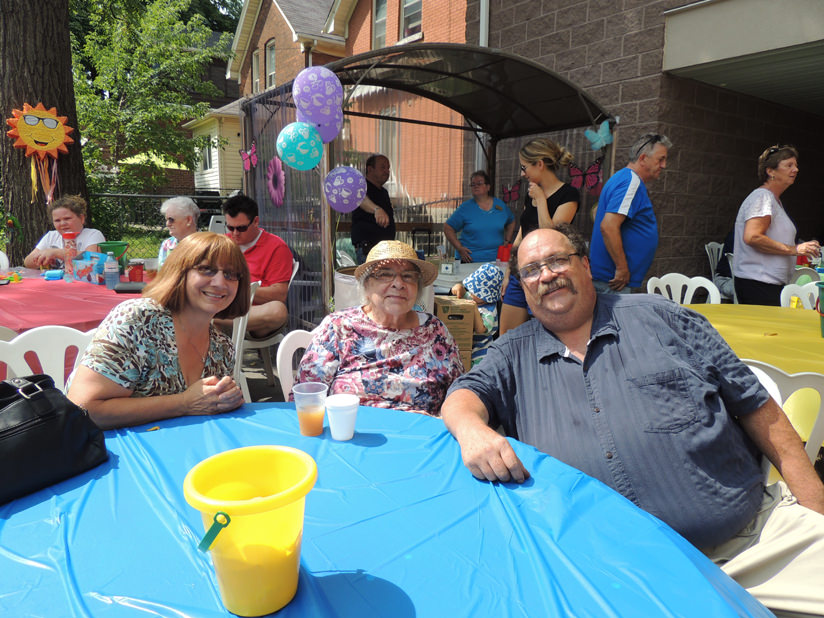 Annual Resident Family BBQ held here at Cobblestone Gardens .